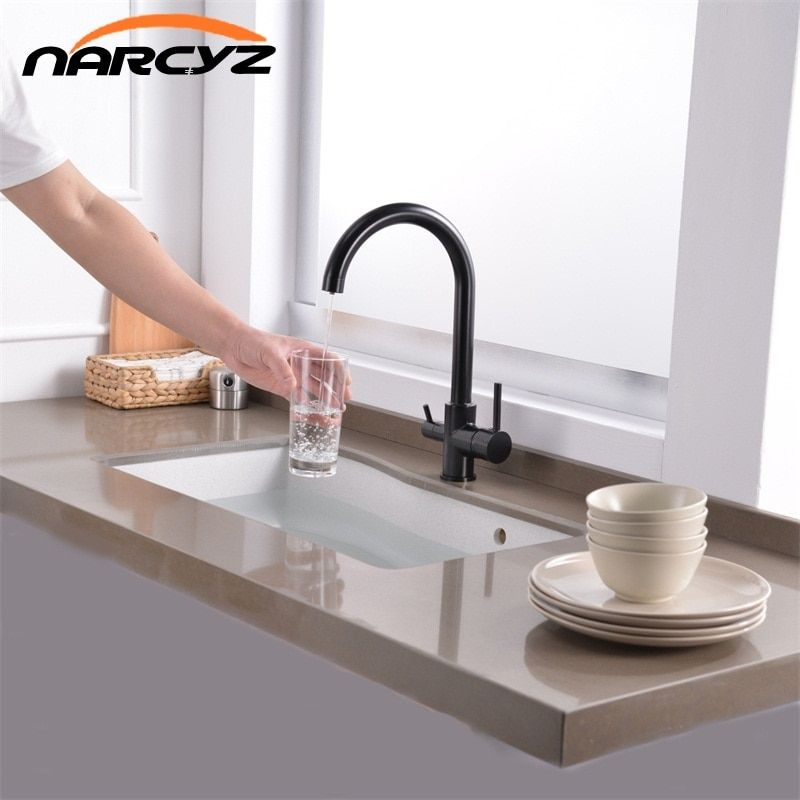 New Black Kitchen Faucets Waterful Taps Kitchen Faucets Mixer