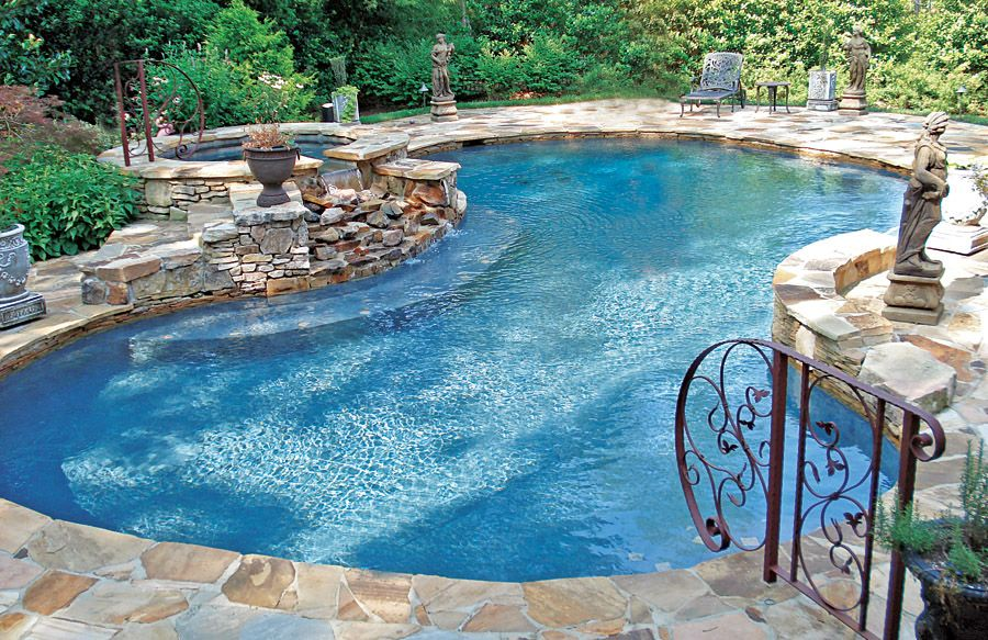 Free Form Pool Ideas Shapes And Pictures Blue Haven Amazing Swimming Pools Pool Patio Backyard Pool