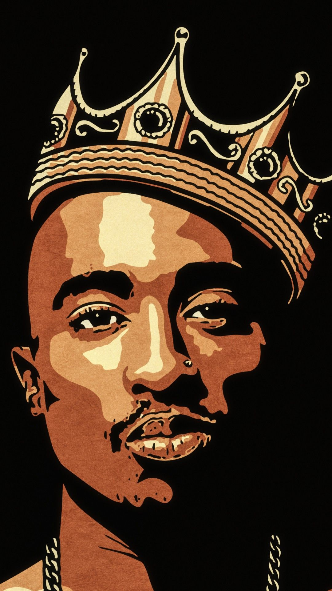 Wallpaper Phone 2Pac Full HD Tupac art, Pop art wallpaper