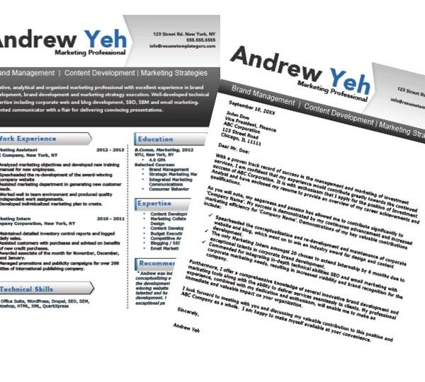 Marketing #Resume \ Cover Letter Template Fully customizable in - marketing cover letters