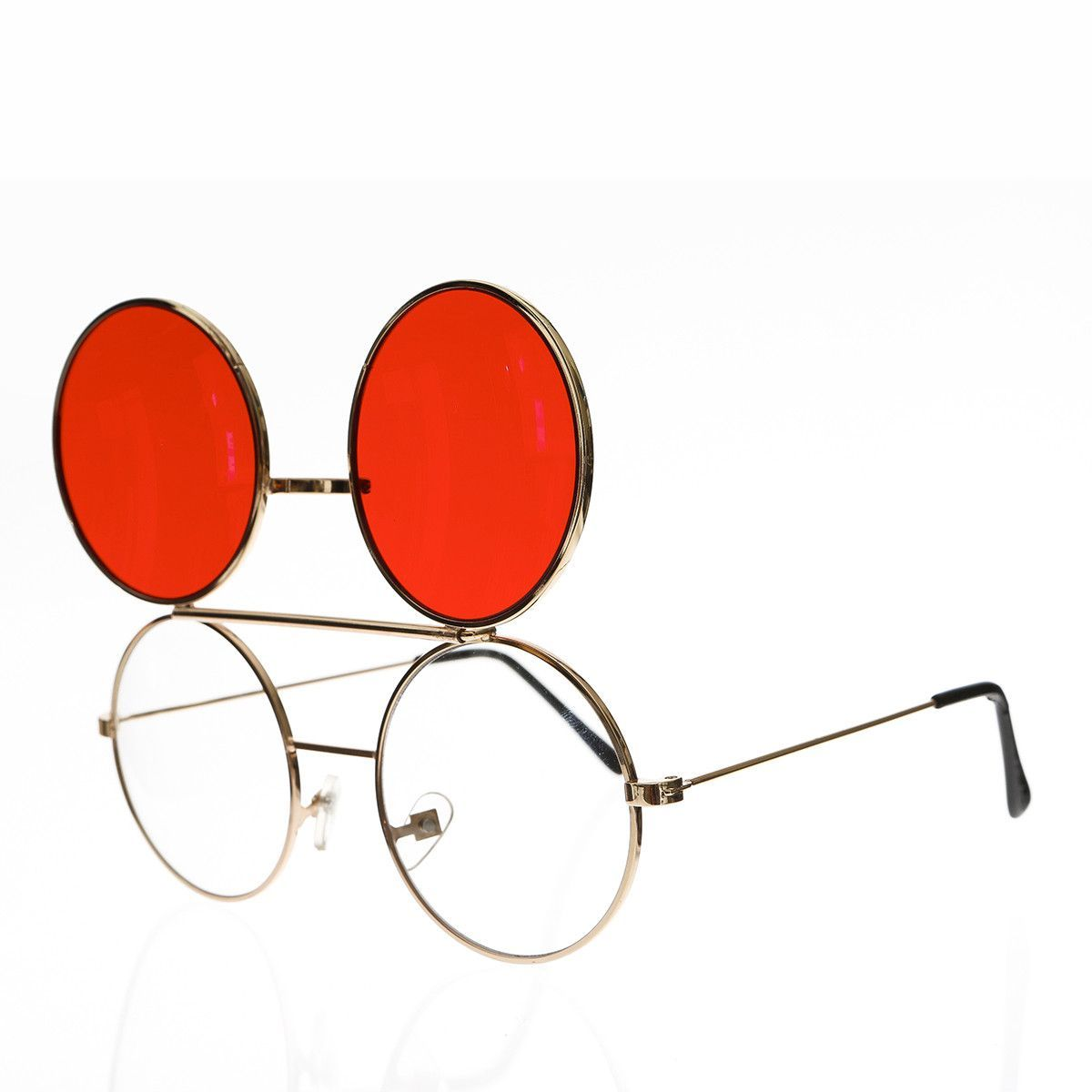 Retro Flip Up Glasses with Colored Tinted Lenses - Flippy | Products