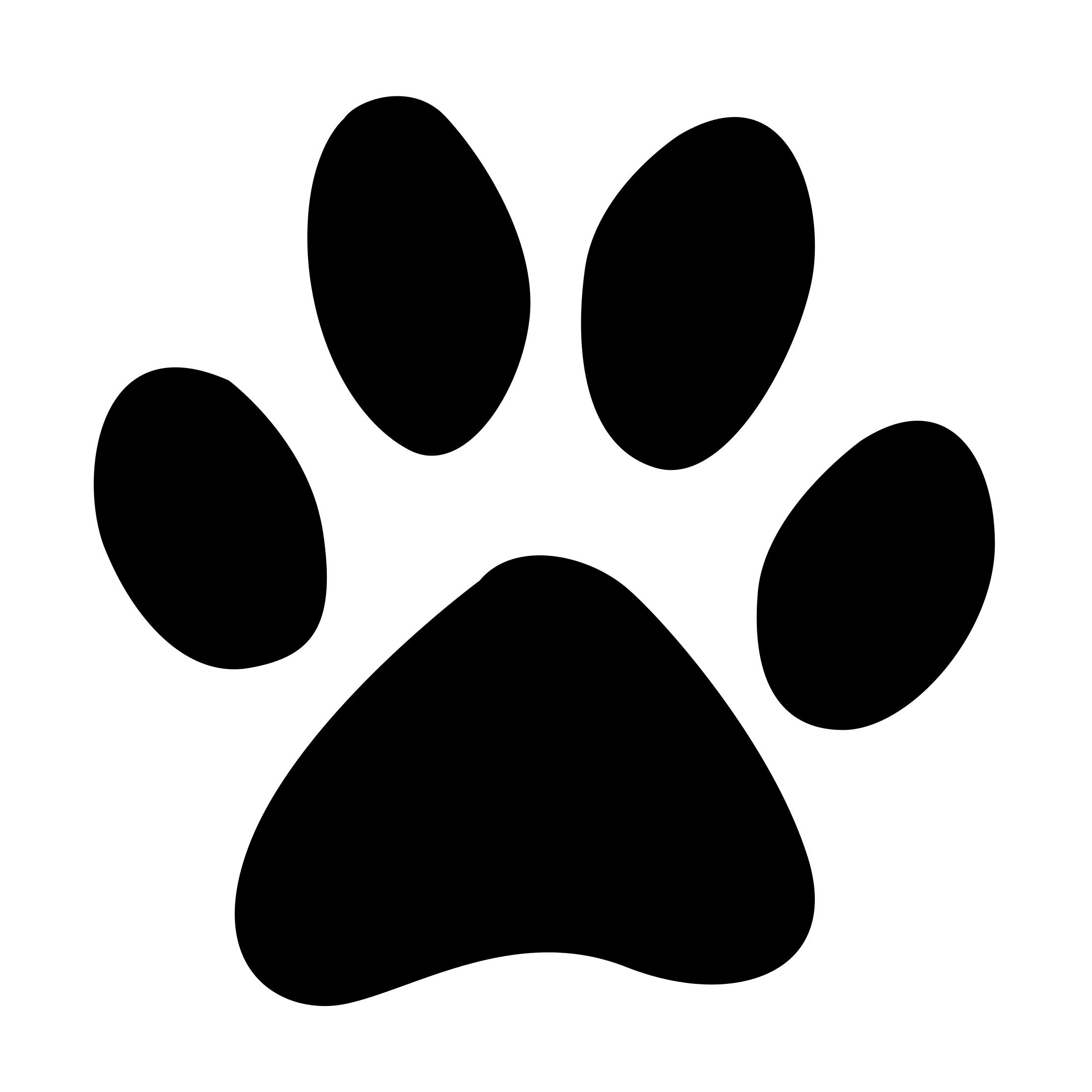 Paw Print Vector Icon Dog Paw Drawing Cat Paw Drawing Paw Drawing