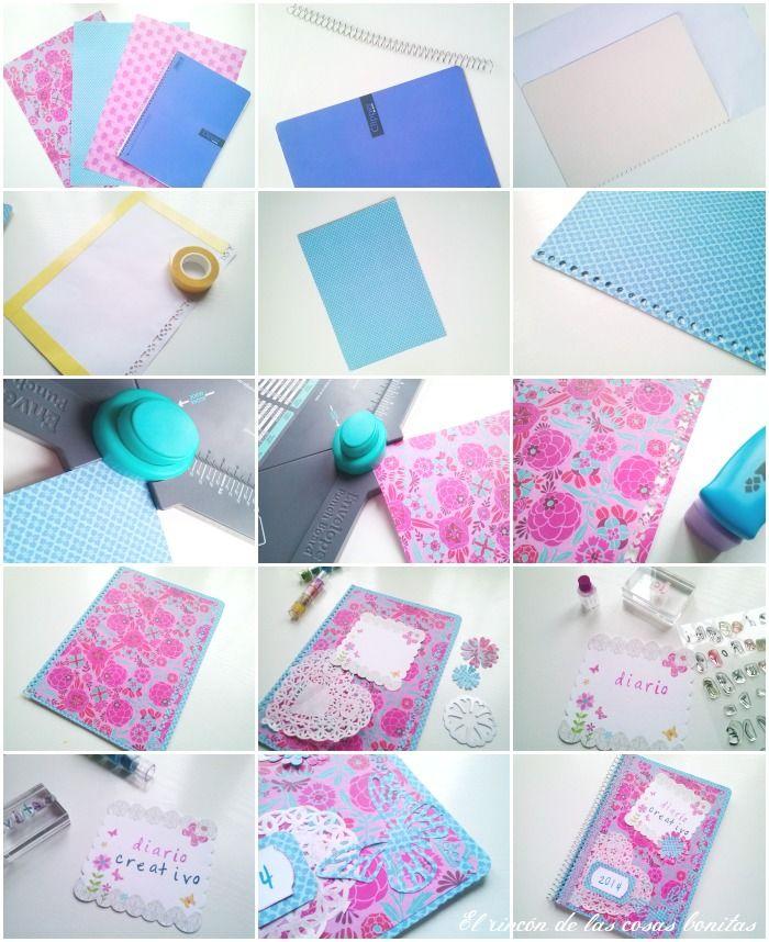 Como Hacer Tu Propio Diario Creativo Diarios Creativos Como Hacer Un Diario Creatividad