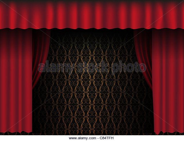 Red Theatre Curtain Vintage Wallpaper In Background Stock Image Red Curtains Curtains Vintage Wallpaper