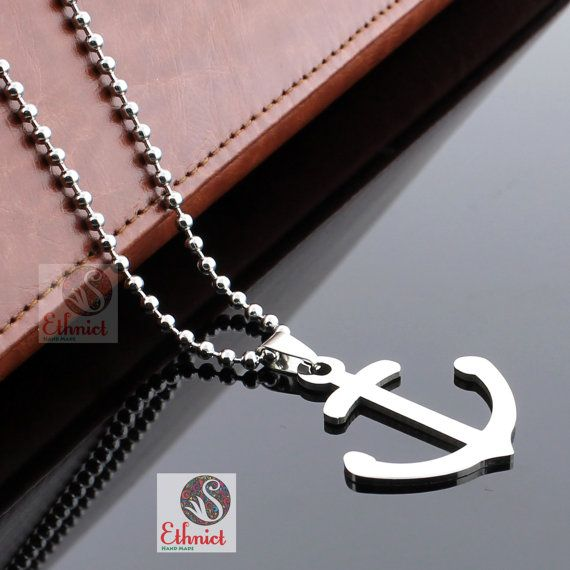 Anchor necklace hoe necklace anchor pendant mens by CTdesignSHOP Anchor necklace, hoe necklace, anchor pendant, mens gift, sailor necklace, mens necklace, steel pendant, mariner necklace, anchor jewelry