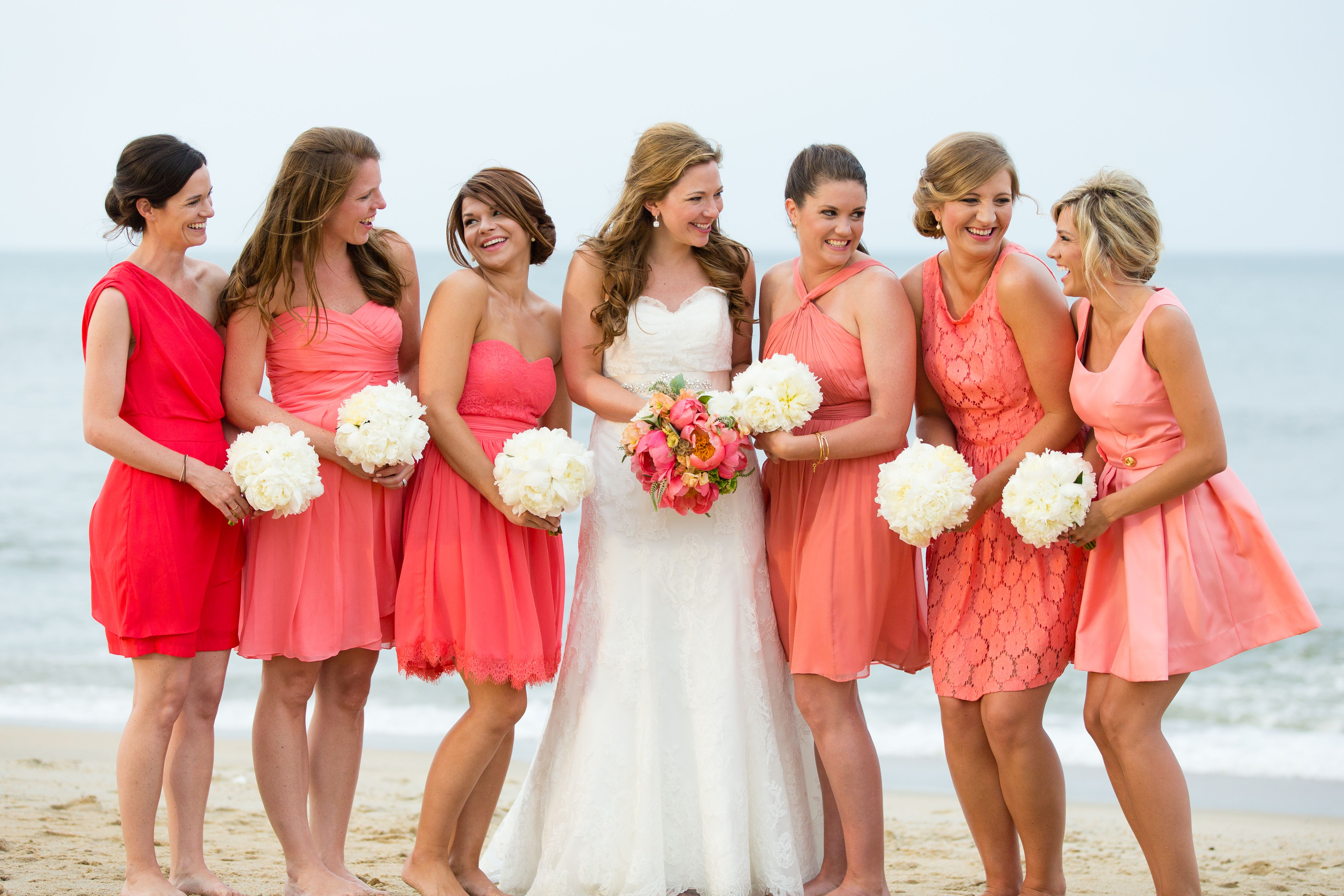 b01514c0e9 Wedding.Coral.Beach.Mismatched. Bridesmaid.Dresses = My vision coming true!