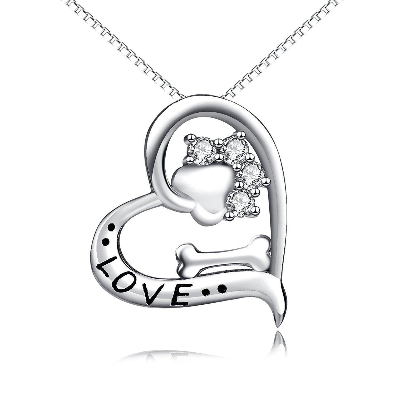 Animal paw and bone sterling silver women fashion pendant