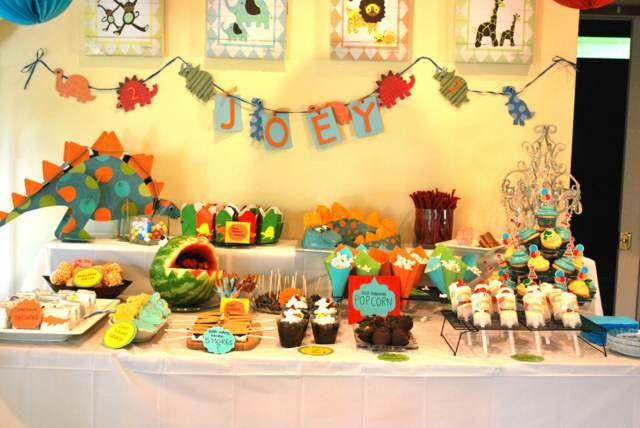 decoración de fiestas infantiles ideas originales con dinosaurios ...