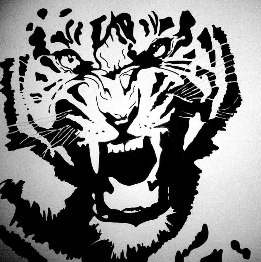 Tiger stencil tigers pinterest stenciling