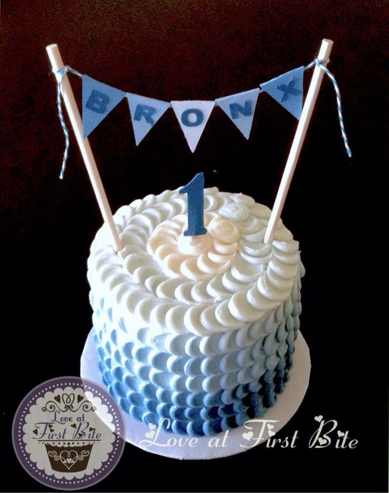 Blue First Birthday Smash Cake By Love At Bite In Nashville TN