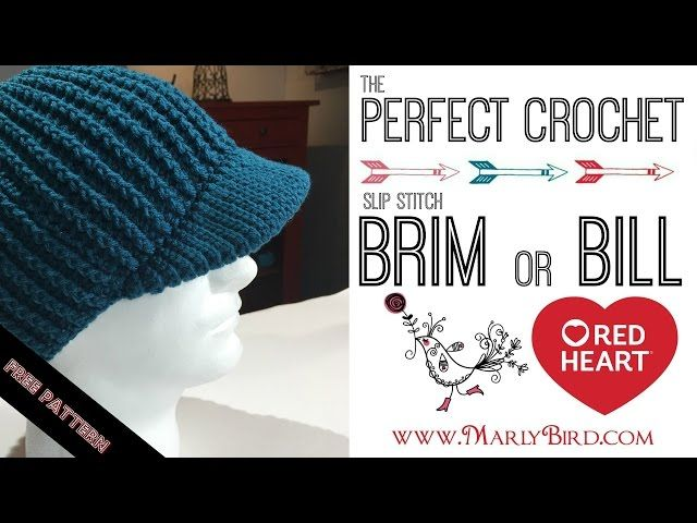 crochet newsboy hat with brim - YouTube | Threads: Crochet wearables ...