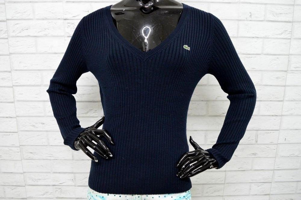 taglia 40 5461b daf29 Maglione LACOSTE Taglia Size 38 Donna Pullover in Lana Wool ...