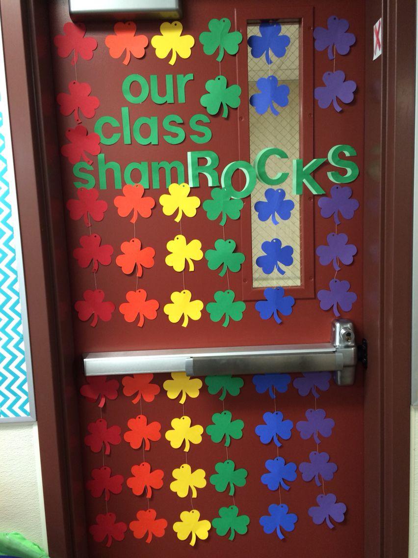St patricks day door | Class    Boards etc | Classroom door