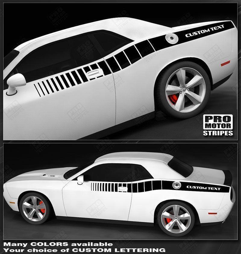 Dodge Challenger 2008-2019 Reverse Strobe Side Stripes