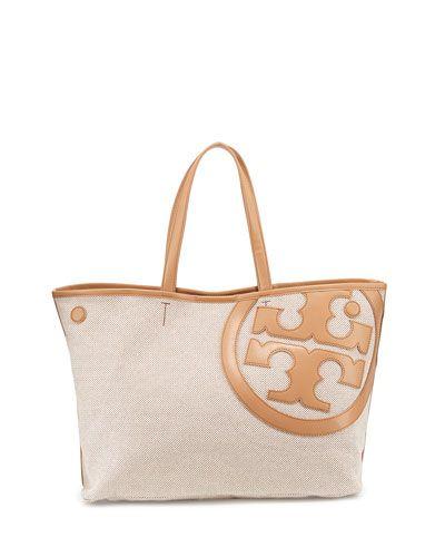 d4d84a81bf47 V2EHA Tory Burch Lonnie Canvas Tote Bag