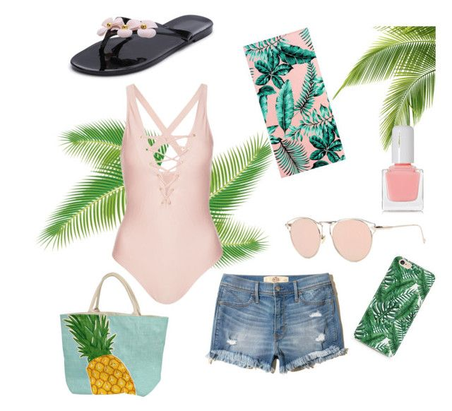 """""""Beach day😎 #1"""" by emmagriezmann on Polyvore featuring mode, Whistle & Wolf, Hollister Co., tenoverten en PBteen"""