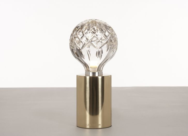 Clear Crystal Bulb Table White Background 01 Bulb Lee Broom Lamp