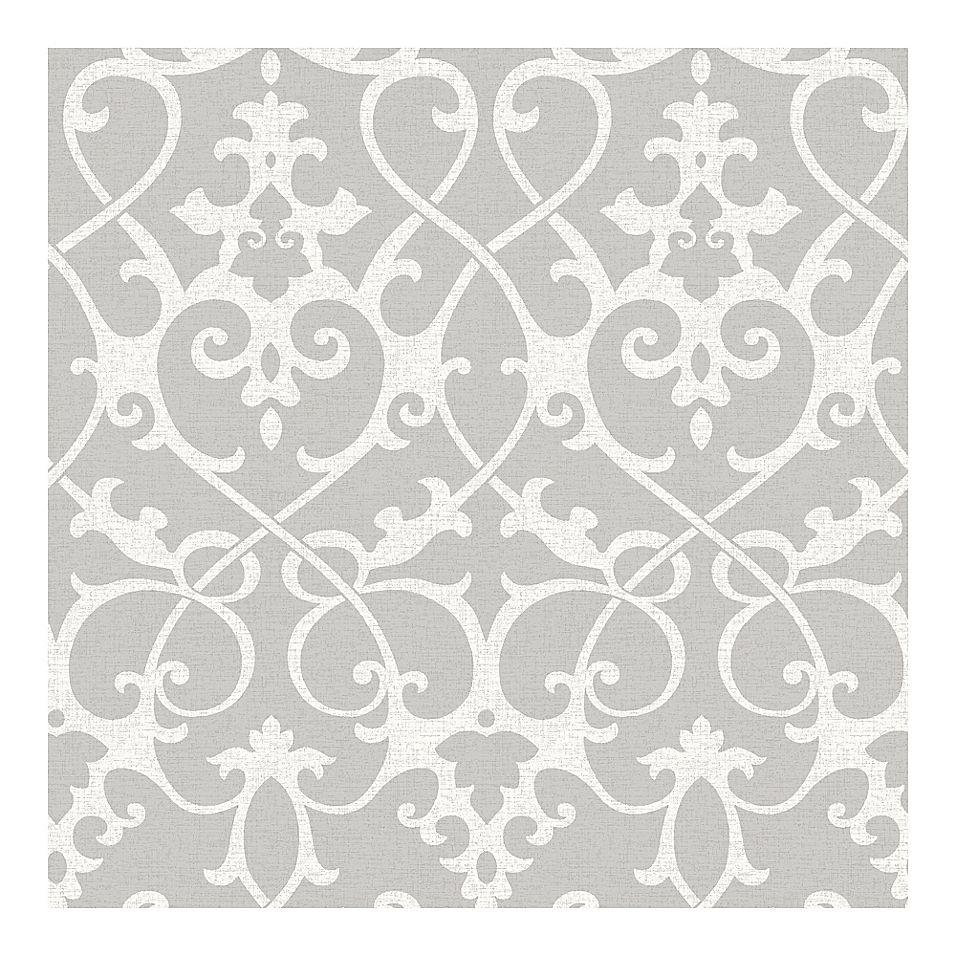 Nuwallpaper Ironwork Peel And Stick Wallpaper In Grey Nuwallpaper Grey Wallpaper Wall Wallpaper