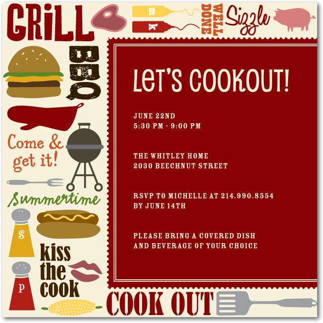cookout collage spanish red party time pinterest party