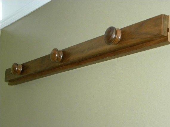 Wall Quilt Rack - 3 ft Black Walnut | Quilt Display | Pinterest ... : wall quilt hangers - Adamdwight.com