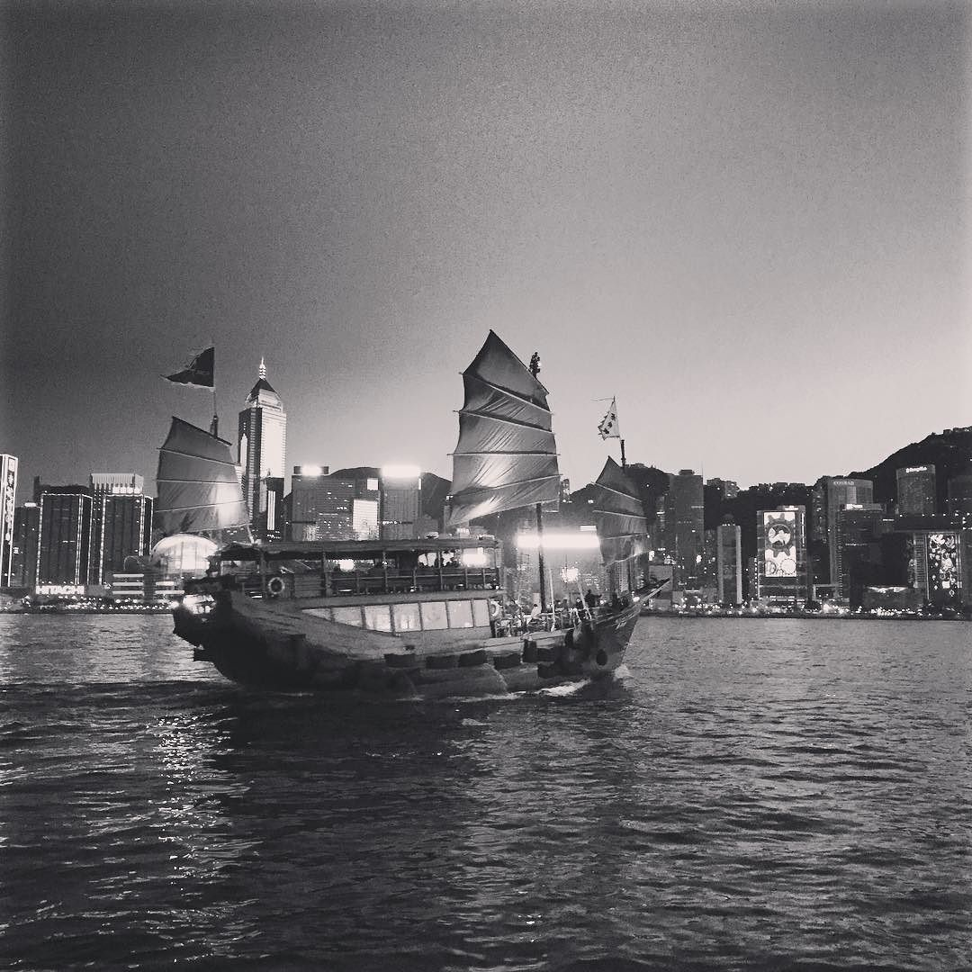 Light show at Victoria Harbour #victoriaharbour #hongkong #travel #sailboat by chumchummm