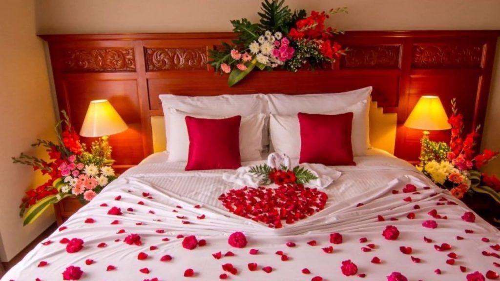 Best Decor Ideas Honeymoon Bedroom Decoration On A Budget In 2021 Romantic Bedroom Decor Valentines Bedroom Guest Bedrooms