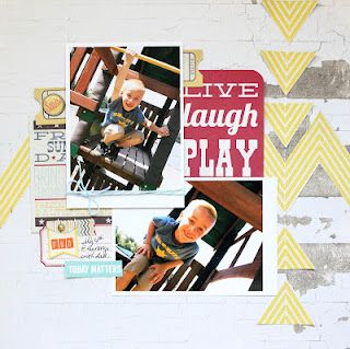 Layout by Diana Fisher  Scrapbook Circle True Stories kit