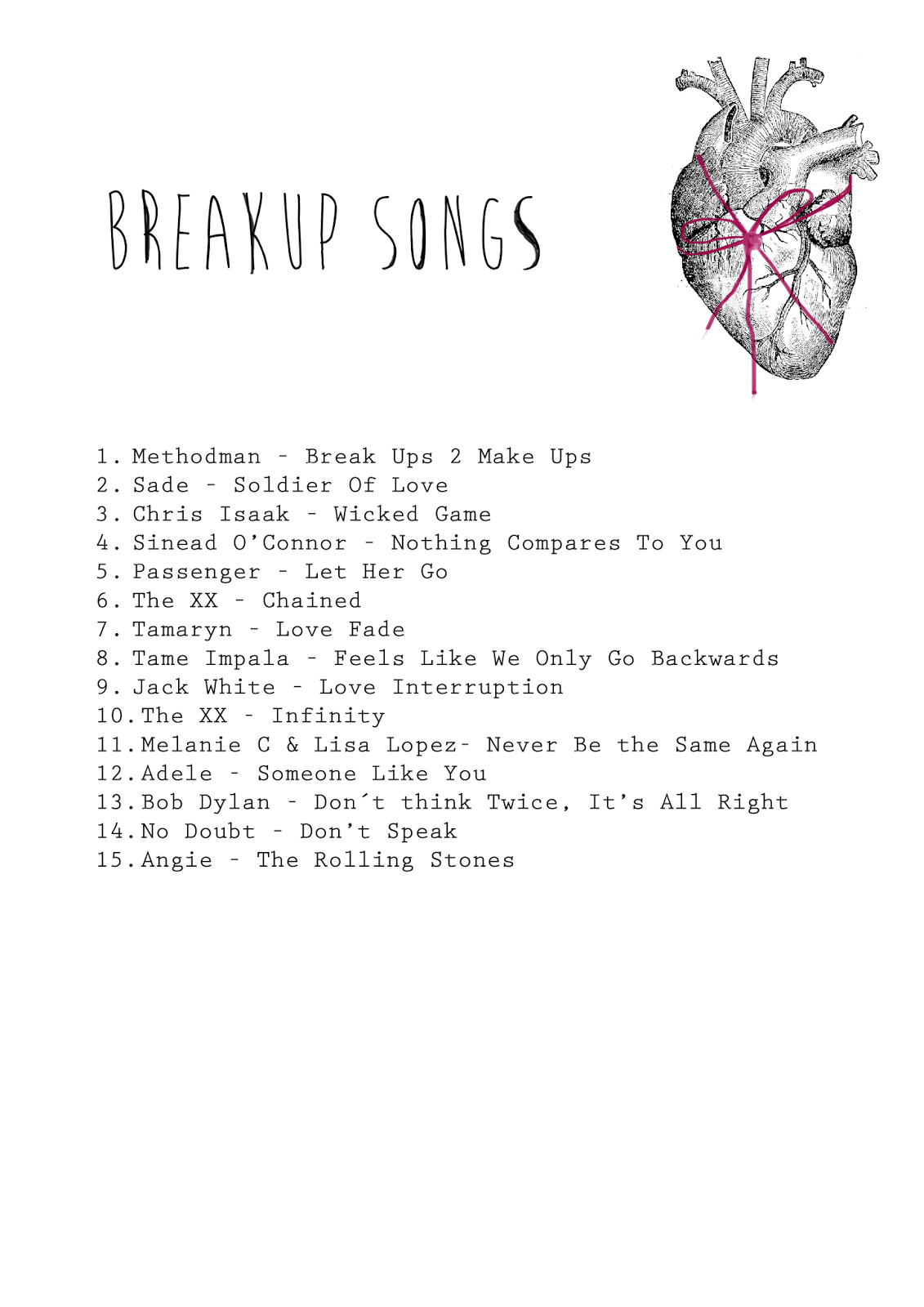Best songs about breaking up