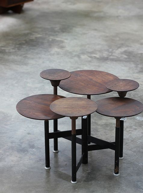 Carson Thomson Prototype articulated table, c. 1965 at LAMA's May 6, 2012 Modern Art & Design Auction / image via youhavebeenheresometime