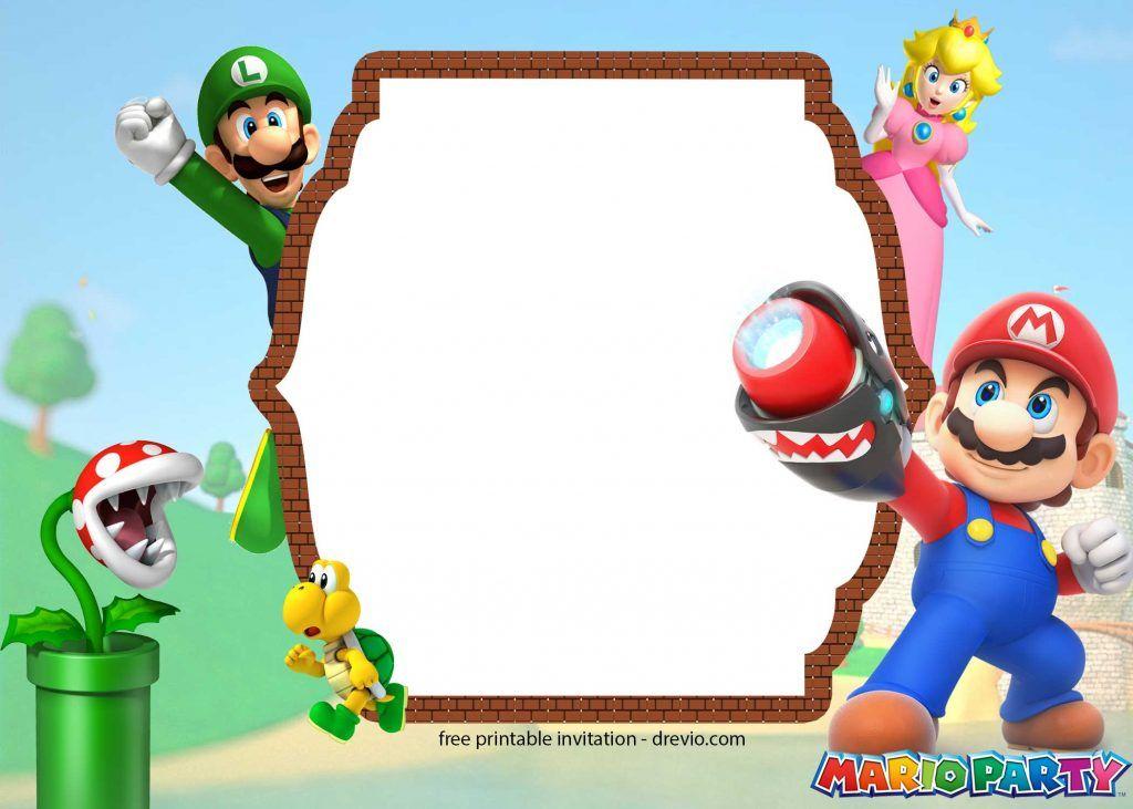 FREE Printable Super Mario Party Birthday Invitation ...