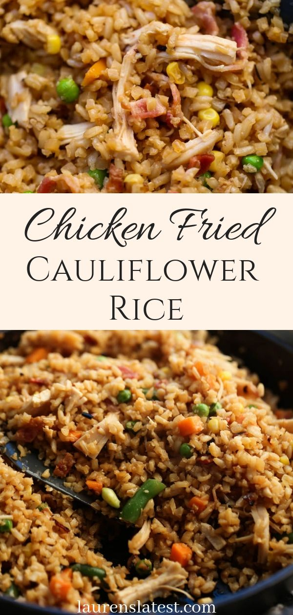 Chicken Fried Cauliflower Rice #cauliflowerfriedrice