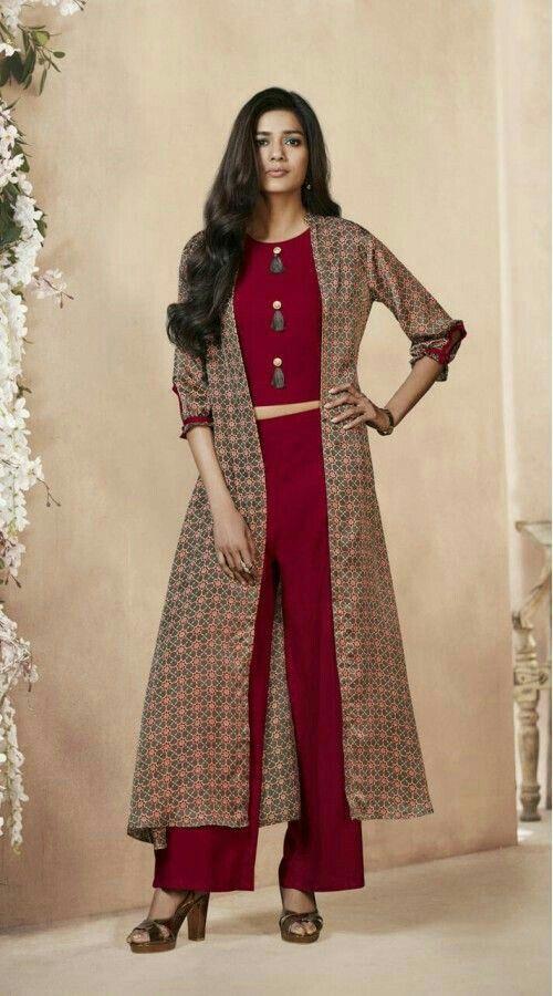 Pin by Juhi Singh on Fashion/beauty tips | Jacket style kurti, Long kurti designs, Kurti designs ...