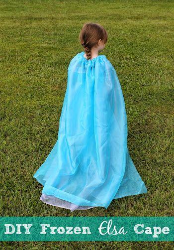 Disney Frozen DIY Elsa Cape + Costume Ideas & Disney Frozen DIY Elsa Cape + Costume Ideas | Pinterest | Disney ...