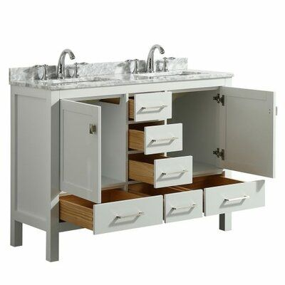 Wrought Studio Furlow 48 Double Bathroom Vanity Set Base Finish