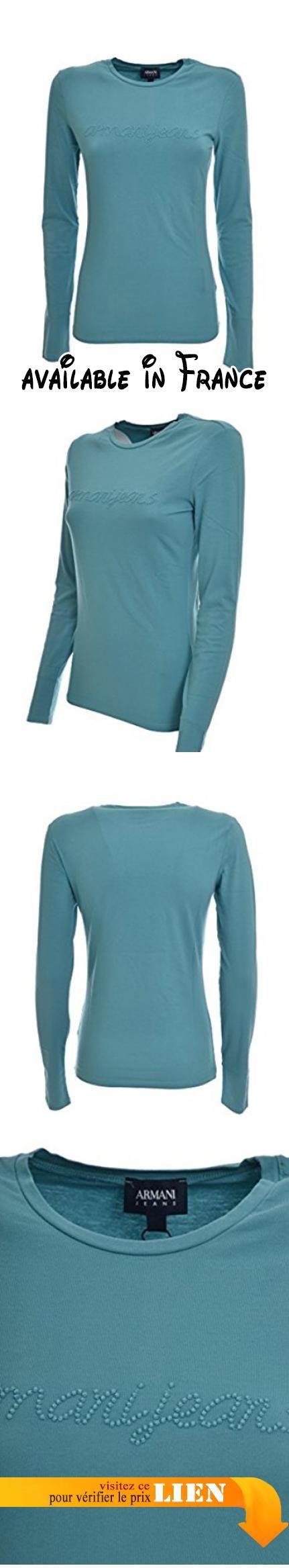 B076cswbrl Turquoise Armani Ciel 44 Shirt Femme Bleu T qn1gHwqZ