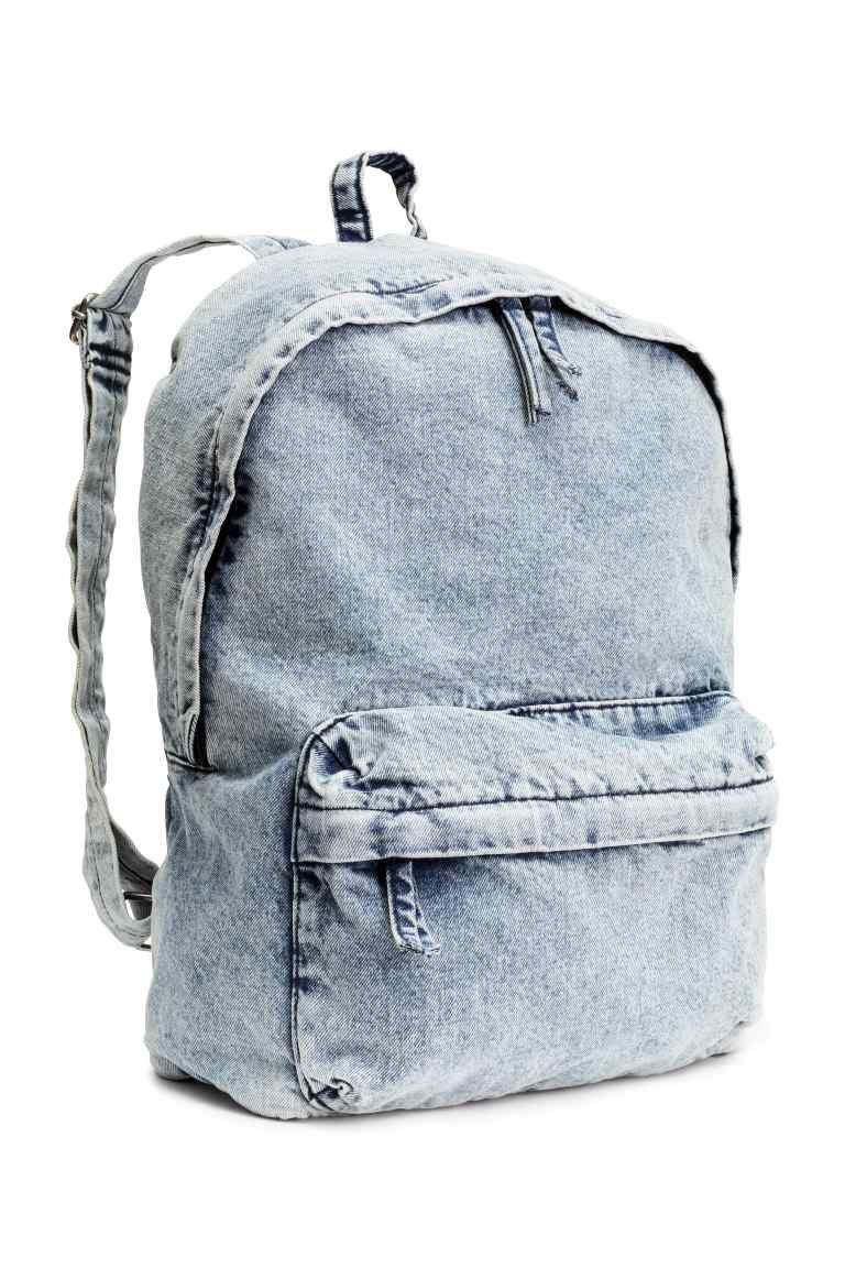mochila mochilas mochila de mezclilla y bolsos con cremallera. Black Bedroom Furniture Sets. Home Design Ideas