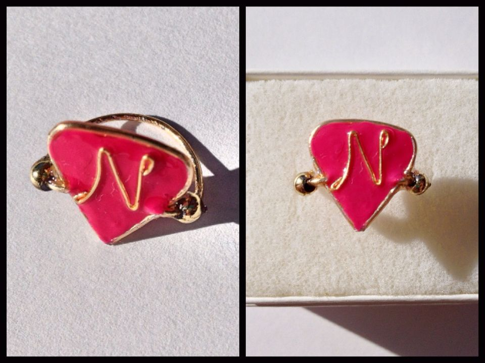 Faux delta nu ring (from legally blonde) https://www.facebook.com/simplyshapedjewelry