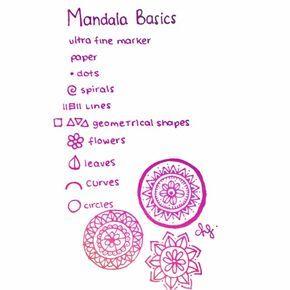 Elementos Basicos Mandalas Dibujo Basico Dibujos