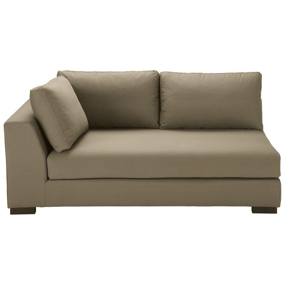 Canapé Du0027angle Tissu 4 Places Avec Pieds Métal + Coussins Déco CLEA En  Solde | Mobiliers | Pinterest | Canapes, Metals And Interiors