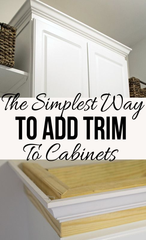 The Easiest Way To Install Crown Molding On Cabinets Kitchen Cabinets Makeover Cabinet Trim Diy Kitchen