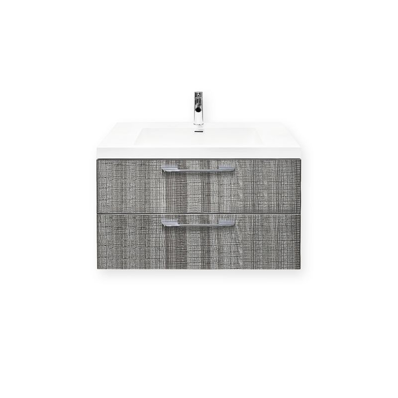 Find Forme 800mm Grey Ash Cabin Wall Hung Vanity at Bunnings