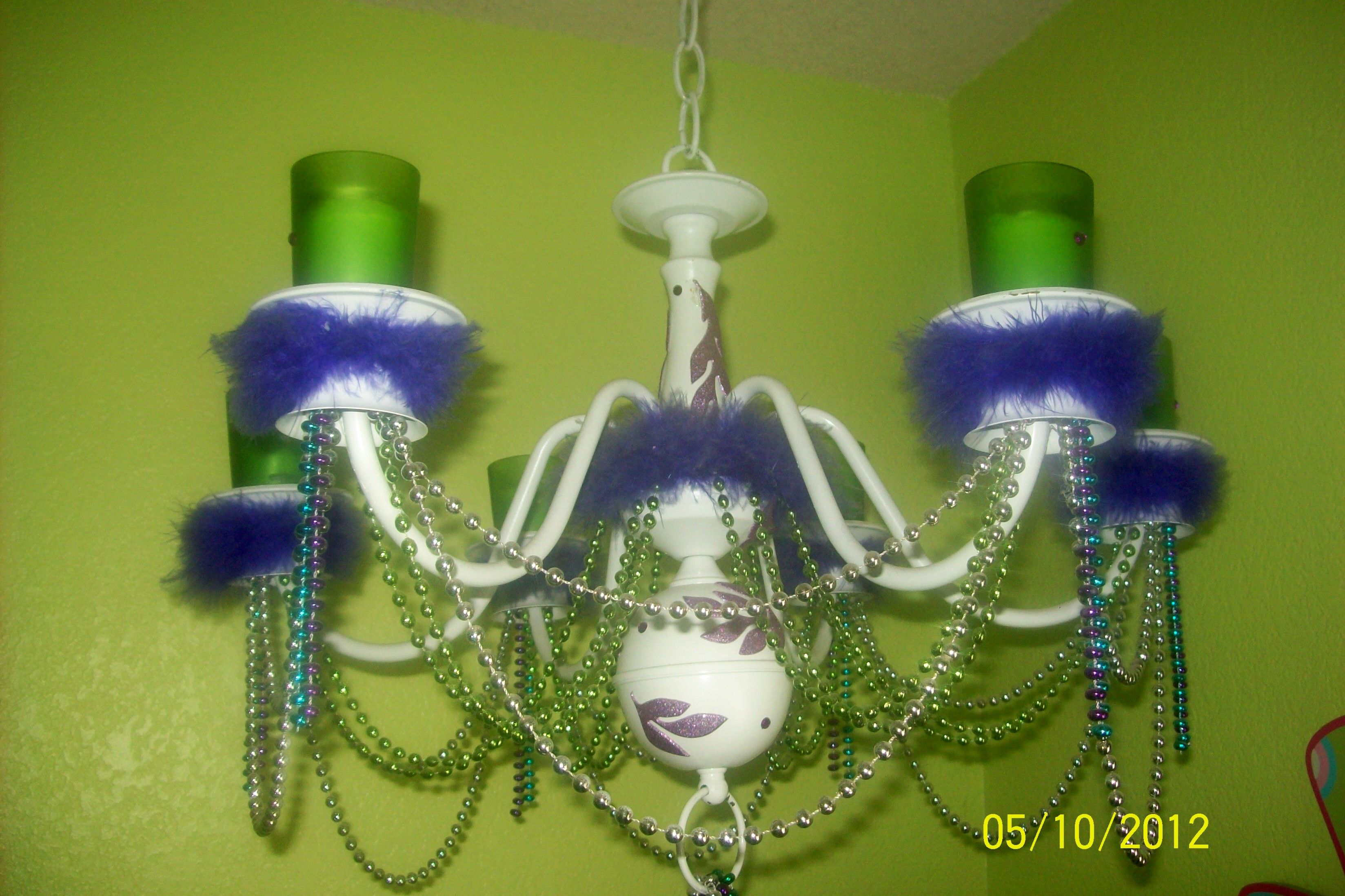 I made this for my daughters room out of an old light fixture.