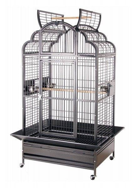 grande cage pour perroquet gris du gabon amazone. Black Bedroom Furniture Sets. Home Design Ideas