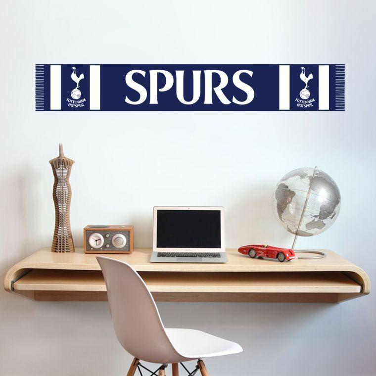 Tottenham hotspur football club scarf wall sticker vinyl wall stickers football stickers bedroom