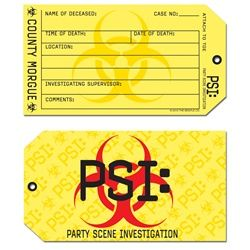 Use this tag for gift if you are attending a murder mystery party! #murdermysteryparty #partycheap