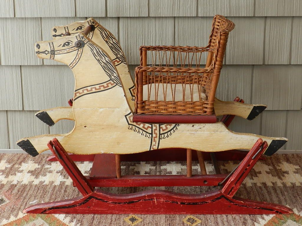 old fashioned rocking chairs swinging chair outdoor s a smith mfg co child 39s glider horse toys of