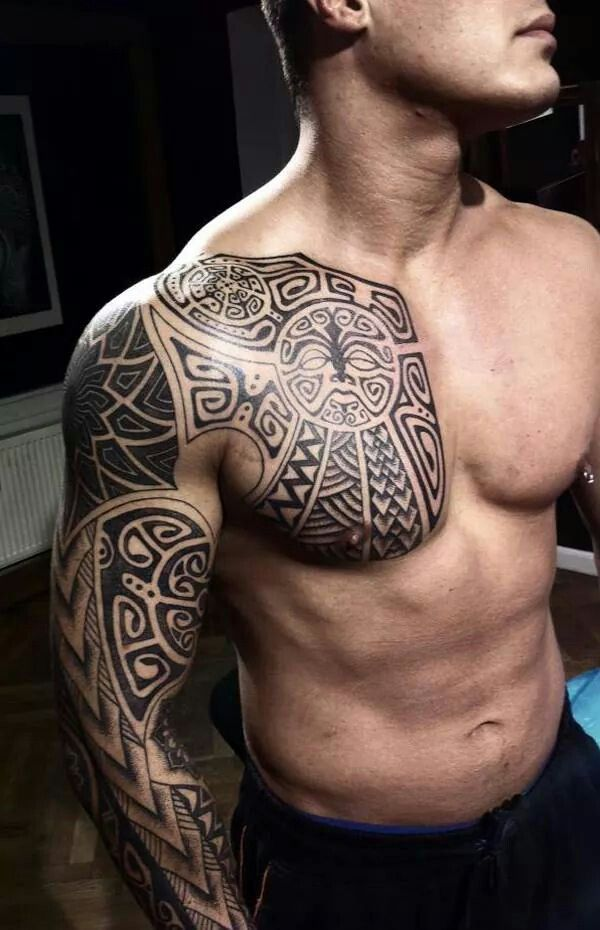 Maori Chest Full Sleeve (With Images)