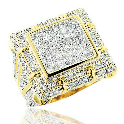 Mens Diamond Ring 5 34ct 14K Gold Mens Jewelry