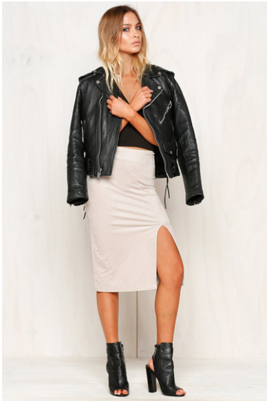 Shop our new arrivals! The most flattering skirt - The Olsen Suede Skirt  www.runwayscout.com