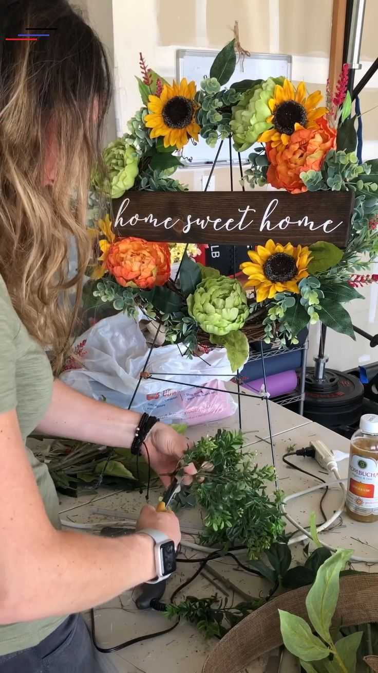 Photo of Kclee.co DIY wreath making, spring wreath